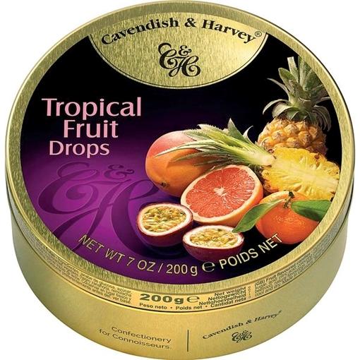 Billede af C&H Tropical Frugt Drops 200 g.
