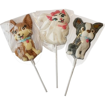 Billede af DOK Barbie Puppy Marshmallows Pops 35 g.