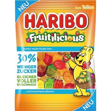 Billede af Haribo Fruitilicious -30% sukker 160 g.