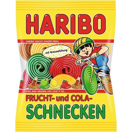 Billede af Haribo gefüllte Frucht&Cola Schnecken 175 g.