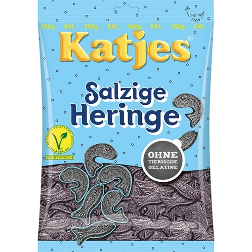 Billede af Katjes Salzige Heringe 500 g.
