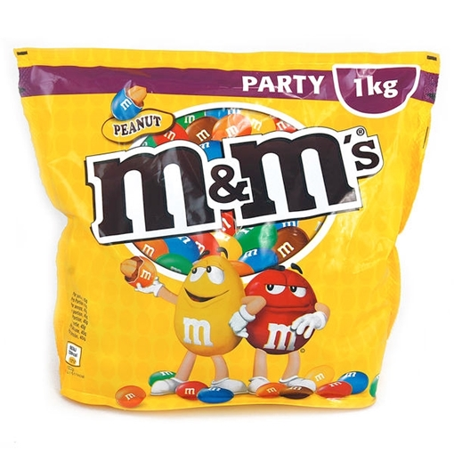 Billede af M&M's Peanut Party Pack 1000 g.