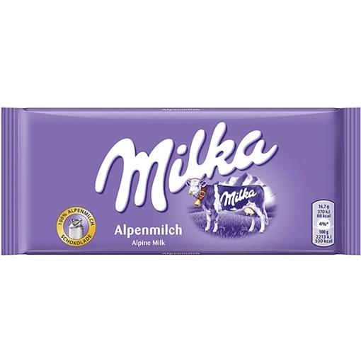 Billede af Milka Alpenmilch 100 g.
