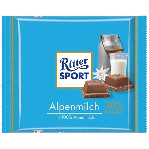 Billede af Ritter Sport Alpenmilch 100 g.