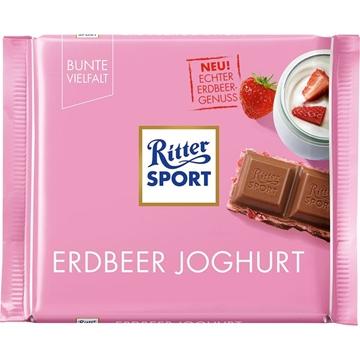 Billede af Ritter Sport Erdbeer Joghurt 100 g.