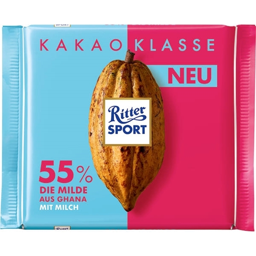 Billede af Ritter Sport Kakao Klasse 55% Die Milde aus Ghana 100 g.