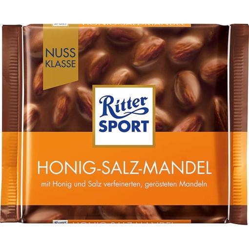 Billede af Ritter Sport Nuss-Klasse Honig-Salz-Mandel 100 g.