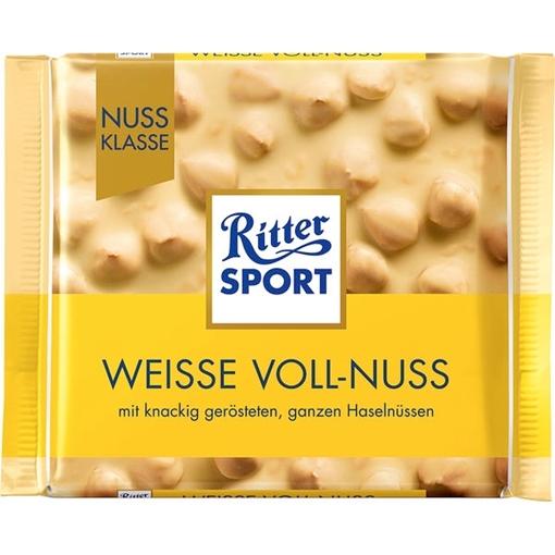 Billede af Ritter Sport Nuss-Klasse Weisse Voll-Nuss 100 g.
