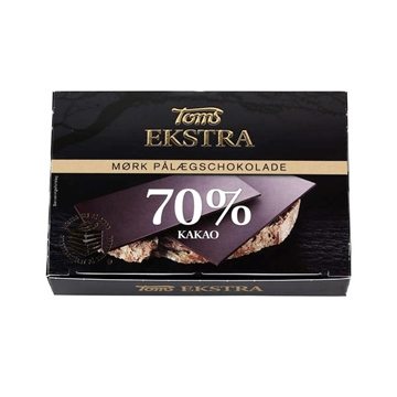 Billede af Toms Ekstra 70% Paalaegchokolade 120 g.