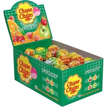 Billede af Chupa Chups Frugt Slikkepinde 50 x 12 g.