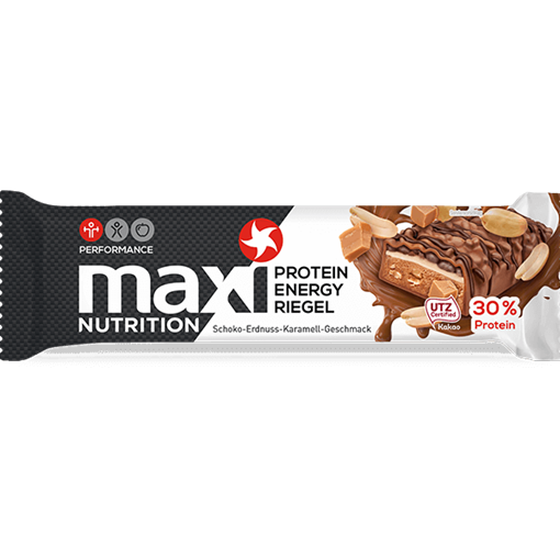 Billede af maxi Nutrition Protein Energi Bar Chokolade-Jordnød-Karamel 50 g.
