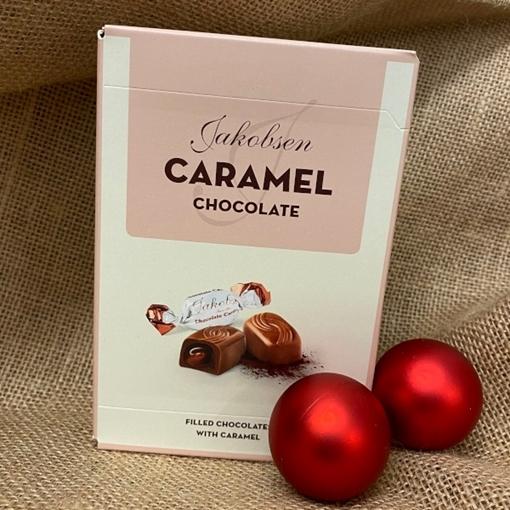 Billede af Jakobsen Karamel Chokolade 125 g.